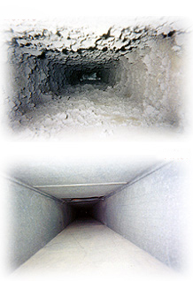 Phoenix air duct cleaning, before and after.
